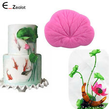DIY 3D Silicone Mold Fondant Cake Lotus Leaf Mold Baking Tool Bakeware Decorate