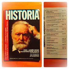 HISTORIA N° 457 du 01/1985-1985, année Hugo, Victor rencontre Juliette