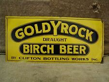 Vintage Goldy Rock Birch Beer Sign Antique Signs Brew