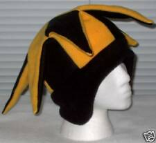 NEW fleece jester snowboard hat- black and yellow