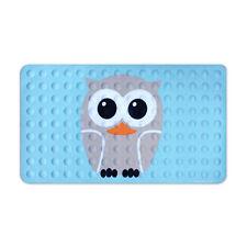 Kikkerland Bath Mat Owl Bathroom Decor Shower No Slip Mildew Resistant Rubber