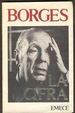 Jorge Luis Borges Book La Cifra 1ºEd 1981 EMECE