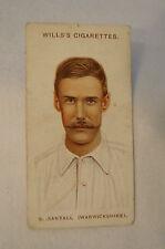 1908 Vintage Wills Cricket Card - S. Santall - Warwickshire.