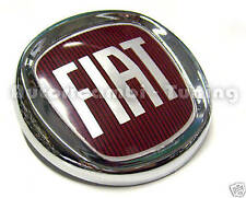 FRIEZE ARMS FRONT FIAT LOGO ROSSO CHROME-PLATED Ø 95mm PUNTO NEW 500 PANDA