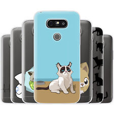 Dessana Comic Cats TPU Silicone Protective Cover Phone Case Cover For LG