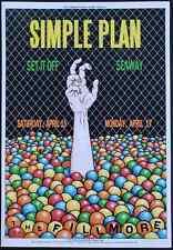 Simple Plan Concert Poster 2017 F-1479 Filmore