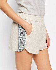 Vila Tile Print Shorts Medium Elastic Waist Retails £25 New 36/09