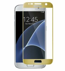 3D CURVED FULL TEMPERED GLASS SCREEN PROTECTOR GOLD FOR SAMSUNG GALAXY S7
