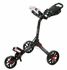 NEW 2020 BagBoy Golf NITRON Auto Open Push/Pull Cart Bag Boy, BLACK/RED