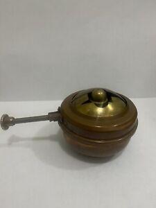 VTG1895 - S.Sternau & Co. New York Copper Chafing Warming Dish Alcohol Burner