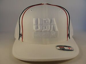 USA Basketball Reebok Fitted Hat Cap Size 7 1/8 White