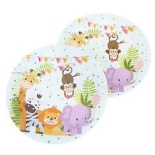 10 Pappteller mit Tiermotiven, Kindergeburtstag / -party, Einweggeschirr -YG