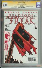 DEADPOOL #62 SS CGC 9.8 AUTO & SKETCH GEORGES JEANTY FUNERAL FOR A FREAK