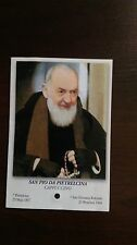 ST. PIO PADRE PIO RELIC RELIQUIE HOLY CARD POLISH VERSION