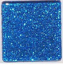 Glitter Glass Mosaic Tiles - Sapphire Blue - 3/4 inch - 20 Tiles - Craft & Art