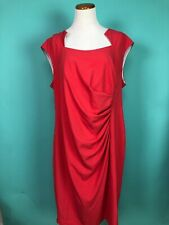 Calvin Klein Coral Pink Stretch Sheath Dress Size 22