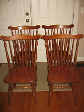 ST. JOHNS TABLE CO. AMERICAN WINDSOR FAN-BACK BRACE-BACK SIDE CHAIRS - SET OF 4
