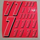 PINK FLUORESCENT wht/blk Racing#1's vinyl Decal Sheet1/8-1/10-1/12 RCModelx
