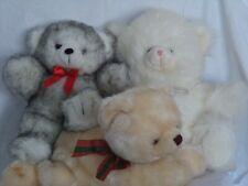 Lot of Three Huggable Plush Bears Toys
