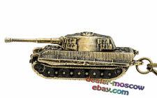 Bronze Solid Brass Keychain German Heavy Tank Tiger II Königstiger WW2 Keyring