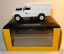 RARE UH UNIVERSAL HOBBIES LAND ROVER III 1978 POSTES POSTE PTT 4X4 1/43 LUXE BOX