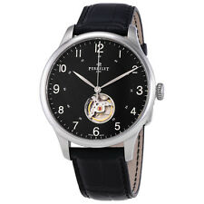 Perrelet First Class Open Heart Automatic Black Dial Mens Watch A1087/2