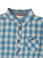 "CHILDRENS BOYS ""EX JOHN LEWIS"" LONG SLEEVE SMART CHECKED SHIRT - 100% COTTON"