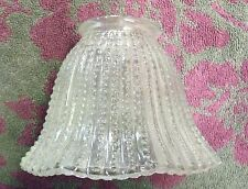 Clear Chain/Dot Vertical Line Glass Octagon Ceiling Fan/Lamp Shade Lighting #147