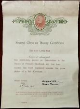 More details for pitman's shorthand second class or theory certificate phonetic institute 1915