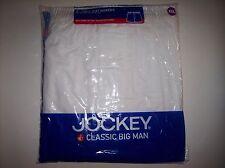 Jockey Boxers Full Cut Classic Big Man Underwear Sz Xxl 44-46 Waist White Nip