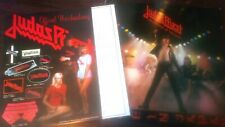 Judas Priest - Unleashed In The east . + Rare Merchandise Sheet . 1979
