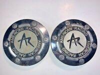 AR American Racing Wheels Chrome Custom Wheel Center Cap Set 2 # F-053 / M-047