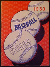 1950 NATIONAL FEDERATION BASEBALL RULES AND HANDBOOK!