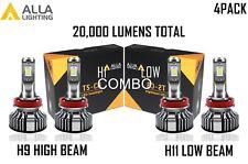 Alla Lighting LED High Low Beam Headlight Bulb Light Kit for PONTIAC,Xenon White