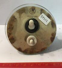 59302 Interruttore FBC in vetro e bachelite vintage - Deviatore con pulsante