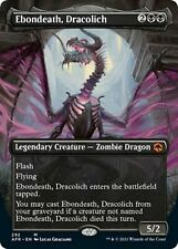 FOIL BORDERLESS Ebondeath, Dracolich 292 - Adventures in the Forgotten Realms