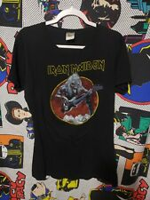 2007 Iron Maiden Bay Island Long Black Tee Shirt Evil Eddie