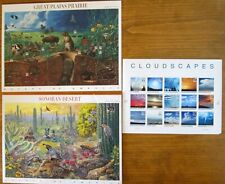 Lot of 3 stamp sheets: Cloudscapes, Sonoran Desert, Great Plains Prairie * NEW