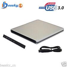USB 3.0 External Enclosure Case For 9.5mm SATA CD DVD RW Blu-ray Drive 2.5 inch
