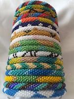 Nepal Glass Beaded Hand Crocheted Bracelets - Roll On!