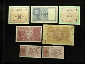 Italy Collection of 11x Banknotes