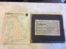 Autocar Sectional Road Map of England Wales 1930's 40's 50's