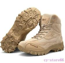 Men High Top Military Army Tactical Combat Desert Sand Shoes Ankle Boots Leather