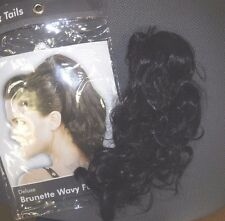 NEW/PKG Clip on Ponytail Hair Extension Blonde or Black One Size 9 inch wavy