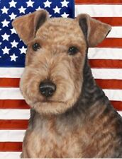 Patriotic (2) Garden Flag - Lakeland Terrier 322341
