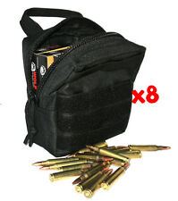 (8) .22 AMMO MODULAR MOLLE UTILITY POUCHES FRONT HOOK LOOP STRAP .22LR 22