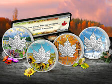 Canada 2013 4 x 1$ Silver Maple Leaf Four Seasons Set 2013 BU Silver Set