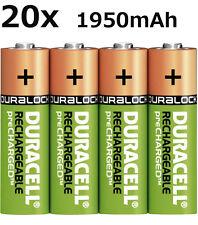20x Original Duracell AKKU Ni-Mh AA 1,2V 1950mAh Rechargeable Aufladbar Lose NEU