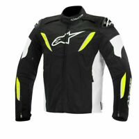 Alpinestars T-GPR Waterproof Textile Motorcycle Bike Jacket Black White Fluo