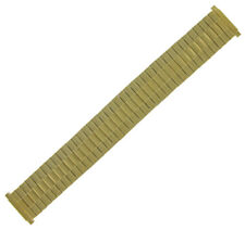 16-22mm Matte Yellow Gold Tone Expansion Mens  Expansion Watch Band